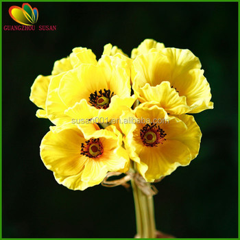 Fake poppy flowers natural touch artificial pu poppy flower bouquet fake poppy flowers natural touch artificial pu poppy flower bouquet for decoration mightylinksfo