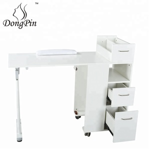 movable manicure table beauty salon equipment folded nail table