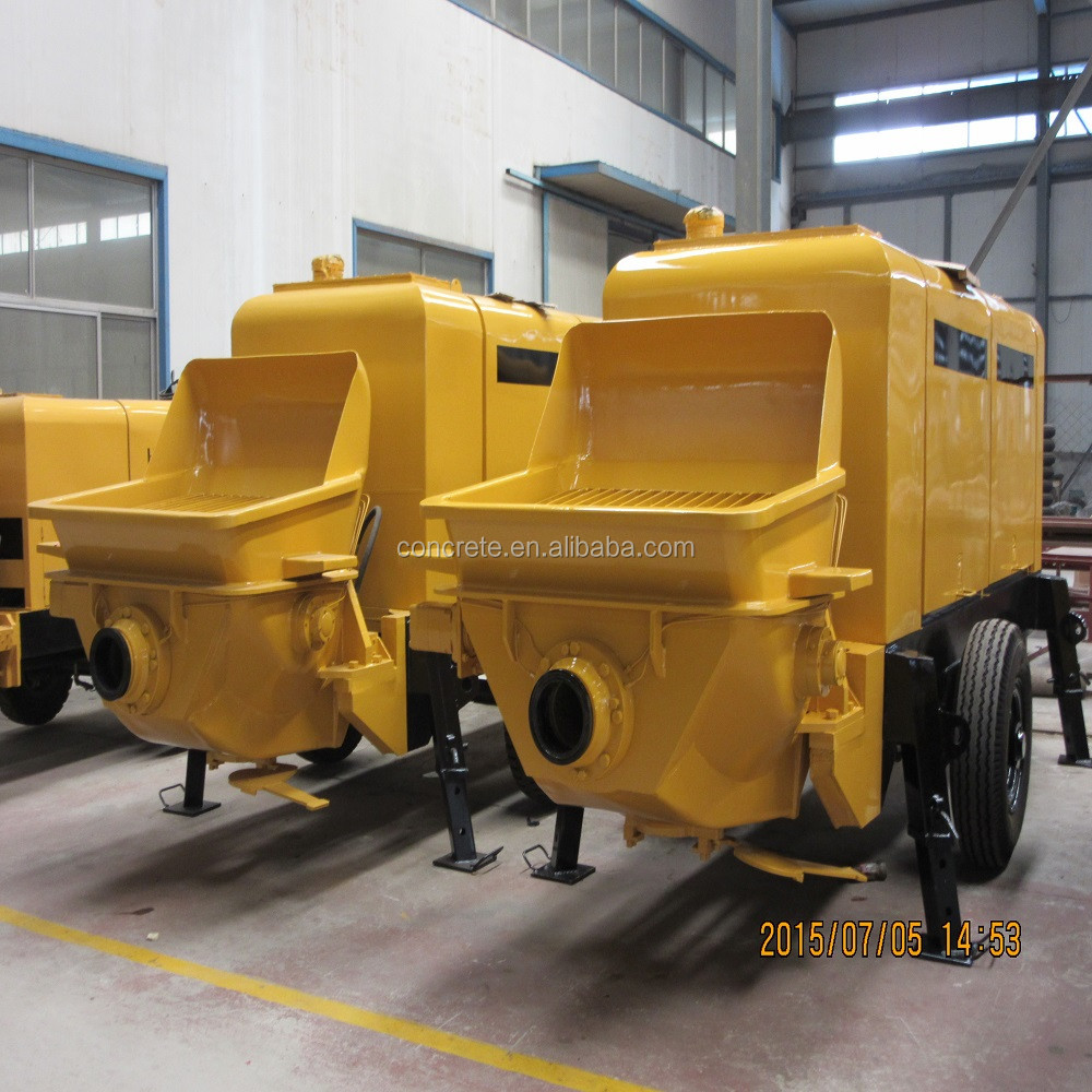 Diesel Engine 30m3  H Output Small Concrete Pump For
