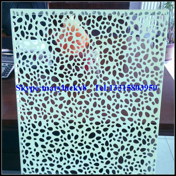 Perforated Aluminum Panels : Decorative perforated sheet metal panels