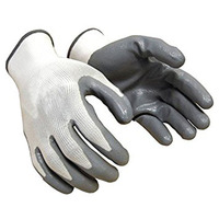 Amazon Seller Breathable Industry Safety Smooth Nitrile Coated Gloves