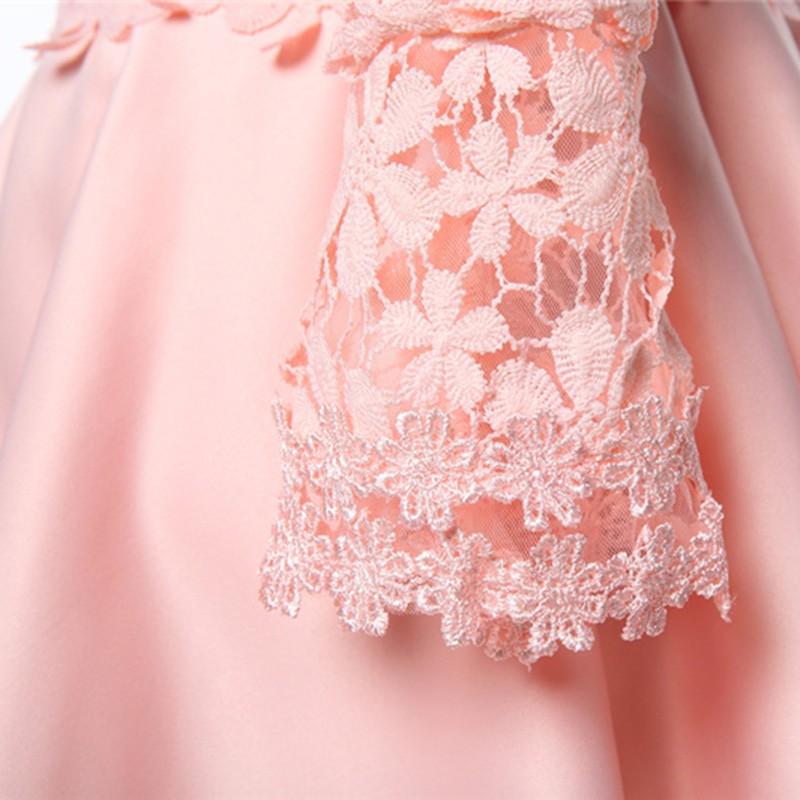2016 Corea niños cabritos del vestido del cordón del Vestido largo ...