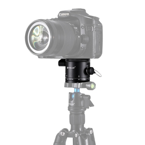 Best Quality, Aluminum Alloy Panoramic Indexing Rotator Ball Head for Camera Tripod Head