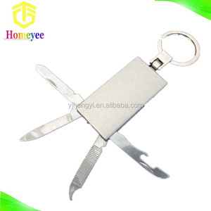 4 in 1 Aluminum Multi Function Tool Pocket Keychain Knife