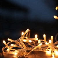 Decorative holiday battery operated waterproof outdoor fairy string lights led string solar fairy led fairy lights