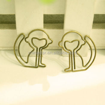 2014 The good quality and best price metal square paper clip