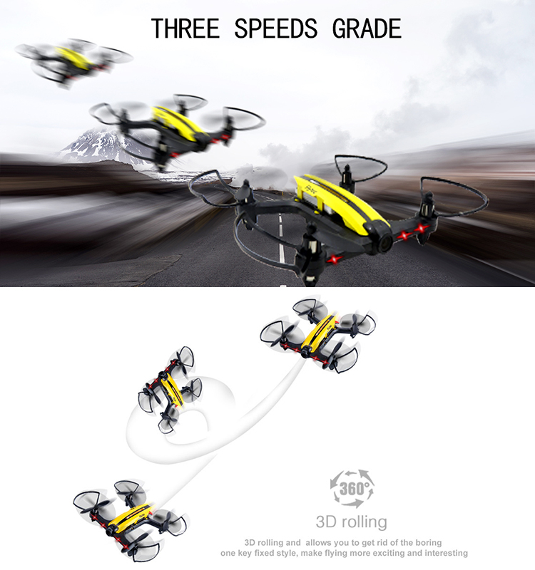 11.  T18D_Yellow_Racing_Drone_with_Altitude_Hold_WIFI_FPV_RC_Drone