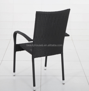 Stock product wholesale Steel wicker chair for garden