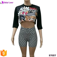Crop tops and new style short pants wholesale boy shorts women summer