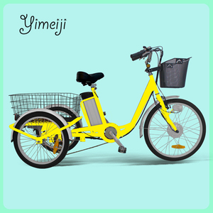 36V 350W 3 wheel electric bicycle with rear big cargo