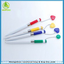 Heart or round shape pendant promotional magnet pen plastic ball pen for office and school