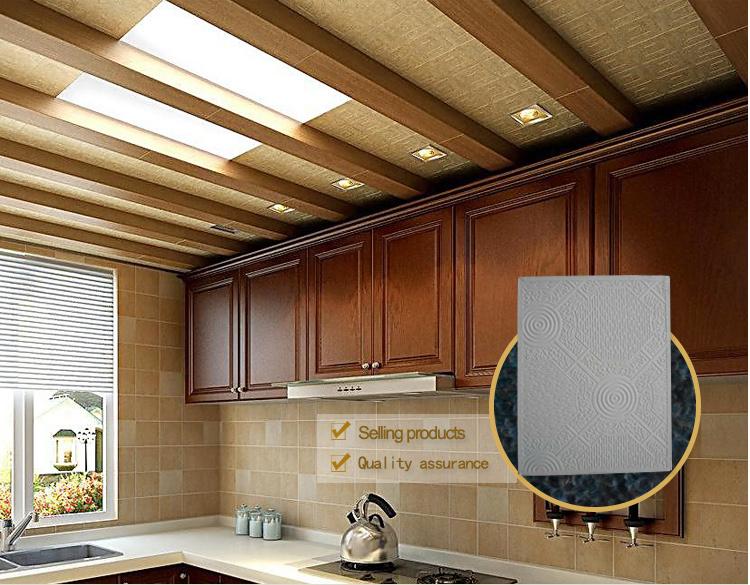 Vinyl Faced Gypsum Board /ceiling Tiles With Aluminum Foil