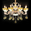 Modern cheap chandelier 6 heads zinc alloy crystal chandelier for light restaurant and hotel