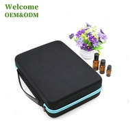 KID large capacity durable waterproof handle carrying black hard EVA case essential oil manufacturer