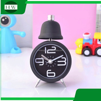 metal mini funny creative loudspeaker circular round table wake up light digital ring a bell vibrating alarm clock