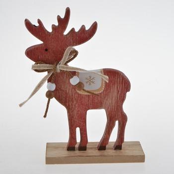 Rustic Wooden Reindeer Free Standing