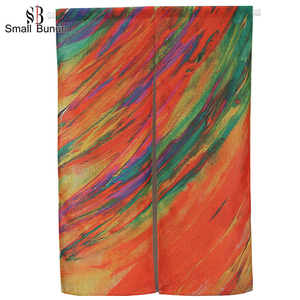 High Quality Decorative Canvas Decorative Printed Door Curtain
