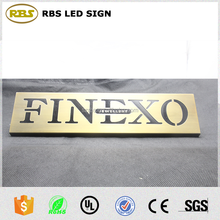 Top quality custom size Alphabet Embossed Letter low price portable metal signs by corrosion crafts
