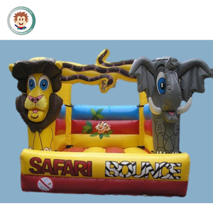 Hot sale inflatable elephant bouncer with inflatable lion bounce house for commercial