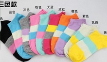 Warm comfortable cotton bamboo fiber girl women's socks ankle low female invisible  color girl boy hosier5pair=10pcs WS03-1