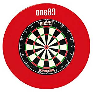 ONE80 DELUXE DARTBOARD SURROUND RED RUBBER RING