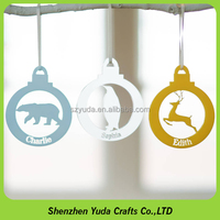 Popular multi-color festival decorations laser cuting acrylic with animal images