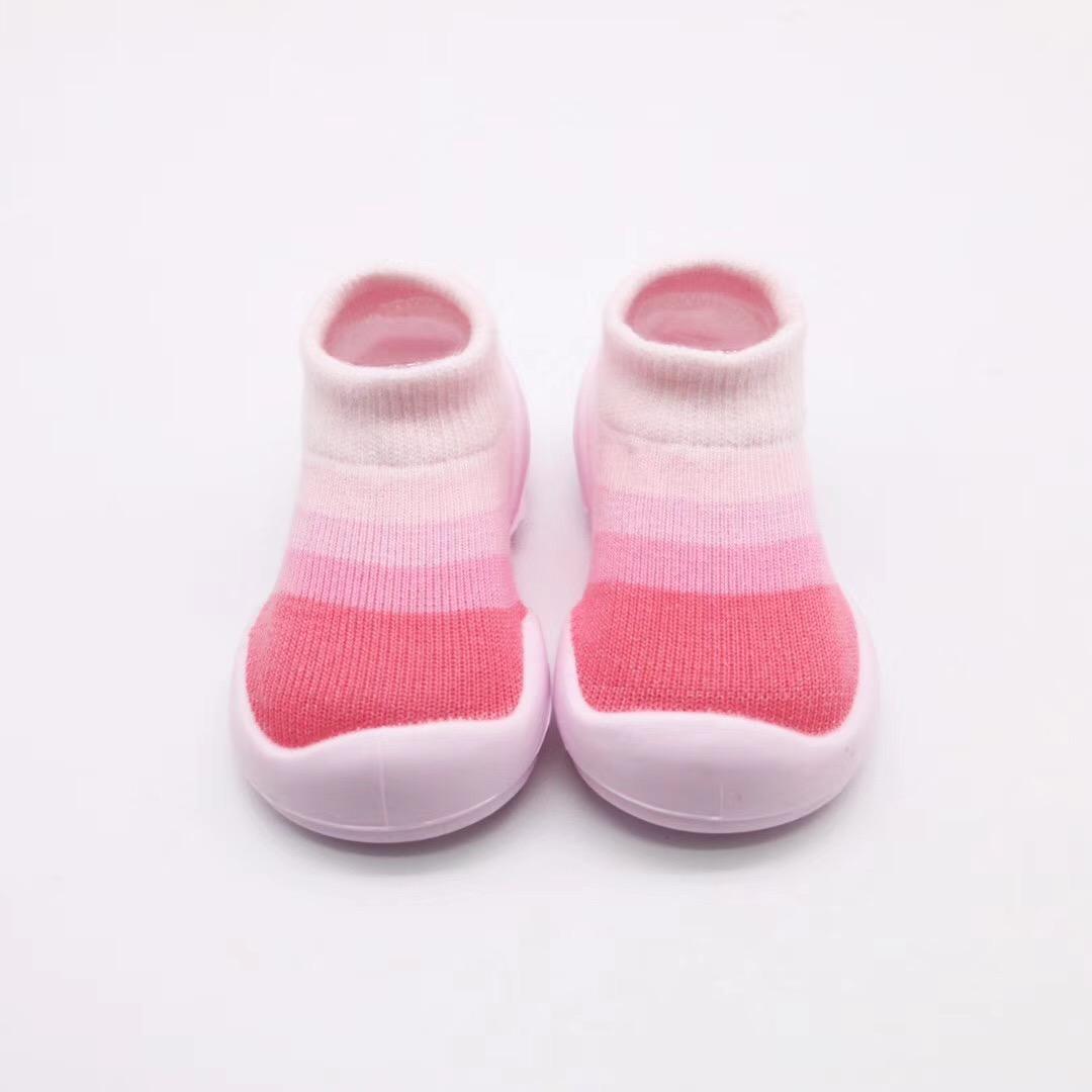 Aj 18593 Baby Stripes Soft Shoes Sole