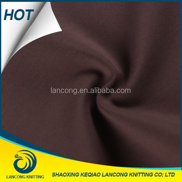 China por mayor baratos elastano viscosa Nylon brown señora blusa uniforme tela