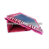 Black and Hot Pink PU Zebra Leather Case for iPad 2 for iPad 3