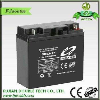 double tech sealed rechargeable battery 12v 17ah lead acid battery 24v lead acid battery buy. Black Bedroom Furniture Sets. Home Design Ideas