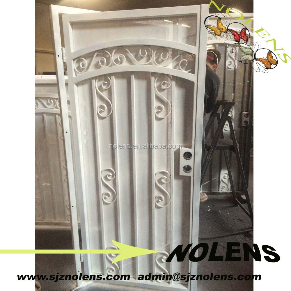 Wrought iron privacy gates - Scrolled Wrought Iron Single Gate With Privacy Screen Buy Iron Gate Designs Iron Gates For Sale Wrought Iron Gates Product On Alibaba Com
