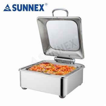 Sunnex newly developed kitchen equipment hanging heating cafeteria buffet food warmer