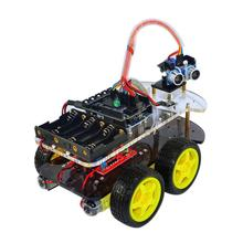 2017 Multi-Functional 4WD Robot Car Chassis Kits UNO R3 170 Point Mini Breadboard For Robot Car Assembly Kit