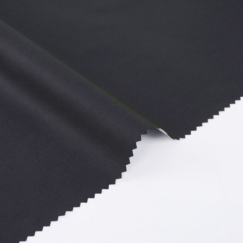 Hot Sale 75D High Stretch Ripstop Polyester Pongee Fabric With PU Milky Fabric For Outdoor Clothing