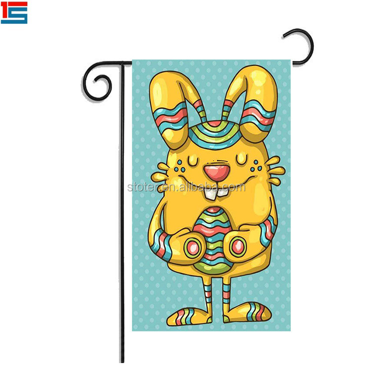 2018 new custom design Easter Festival garden flag