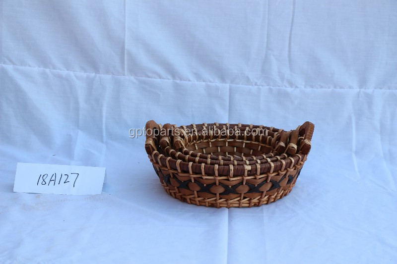 2019 Customized food and fruit willow basket