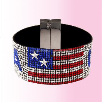 Fashion Cloth Bracelets Fake Diamond Usa