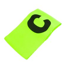 Super sell  Elastic Tension Football Soccer Flexible Sports Adjustable Player Arm Fluorescent Captain Armband