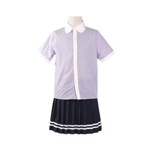 high school summer blouse and skirt girl's beautiful school uniforms