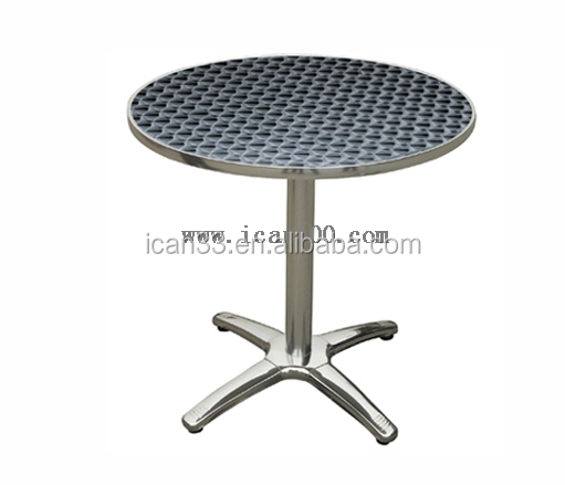 Stainless steel round patio table with cast-aluminum cross(DT-06164R)