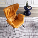 leather living room chairs yellow leather club chair