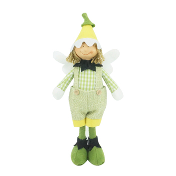 New arrival spring home decoration wholesale christmas green standing doll flower elf 35cm fairy
