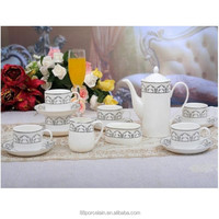 Chinese fine bone porcelain tea pot set for wholesale