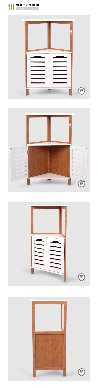 Bamboo furniture prices - 2017 Cheap Bamboo Furniture Prices Corner Cabinet Rack Bamboo Furniture For Sale
