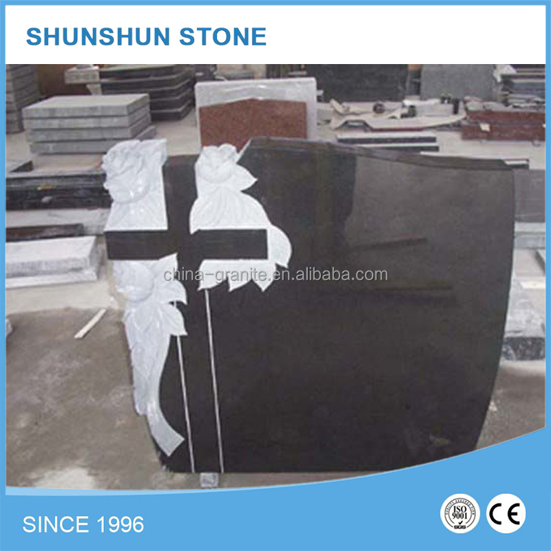 China Memorial Cheap Price Polished Western Headstone