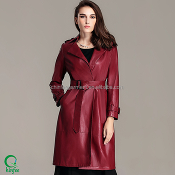 a4c59ce4004d Ypc002 Fashion Smart Ladies Winter Middle Length Pu Leather Jackets ...