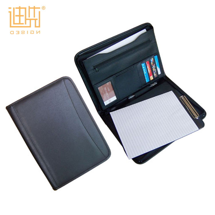 High quality a4 size business leather portfolio folders