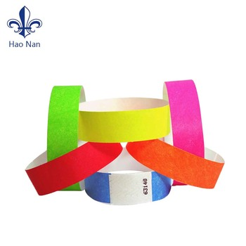 Printable One Time Use Tyvek Wristband