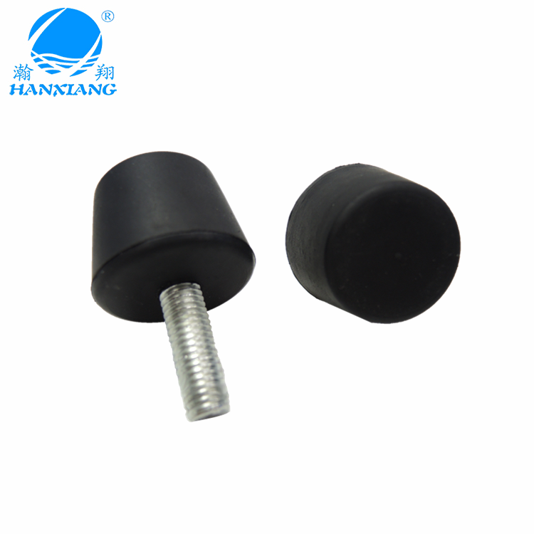 wholesale silicone black cone rubber feet with screw and metal bolt for chair/sofa/furniture