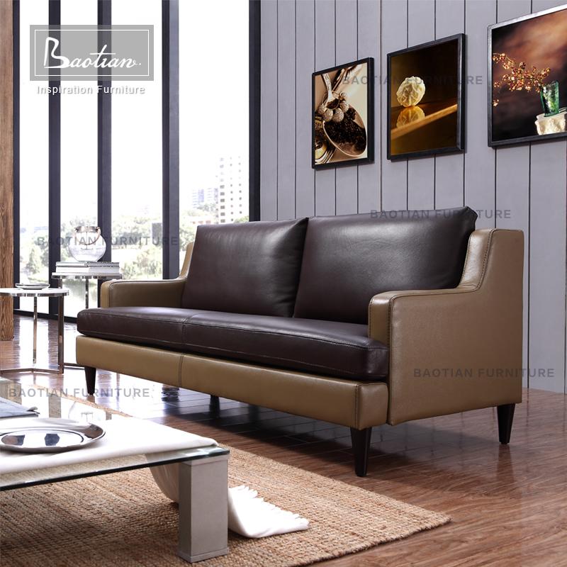 Baotian Furniture European Style Modern Design Genuine Leather Sofas And  Home Furniture